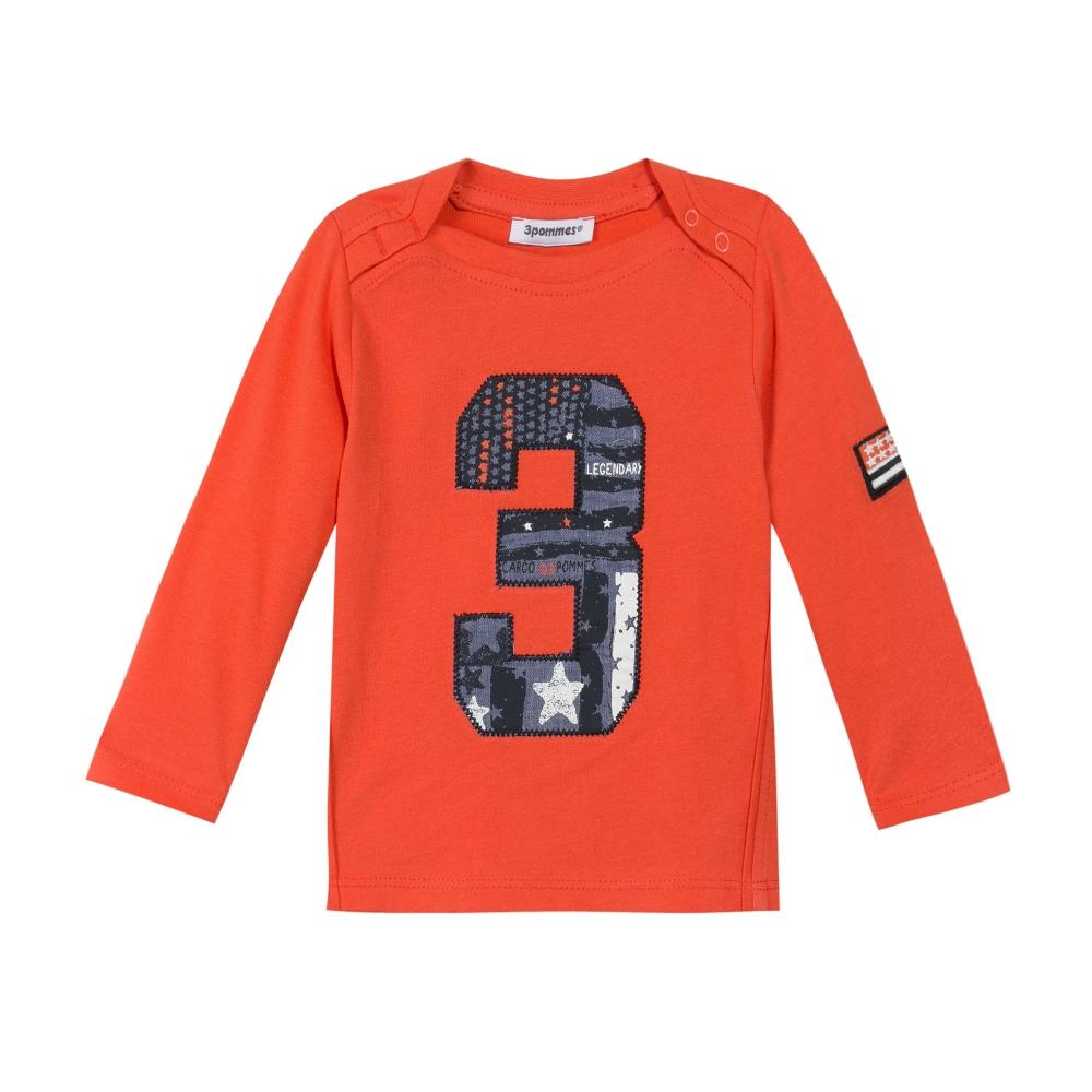 Long Sleeves Orange T-Shirt