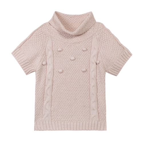Turtleneck short Sleeves sweater