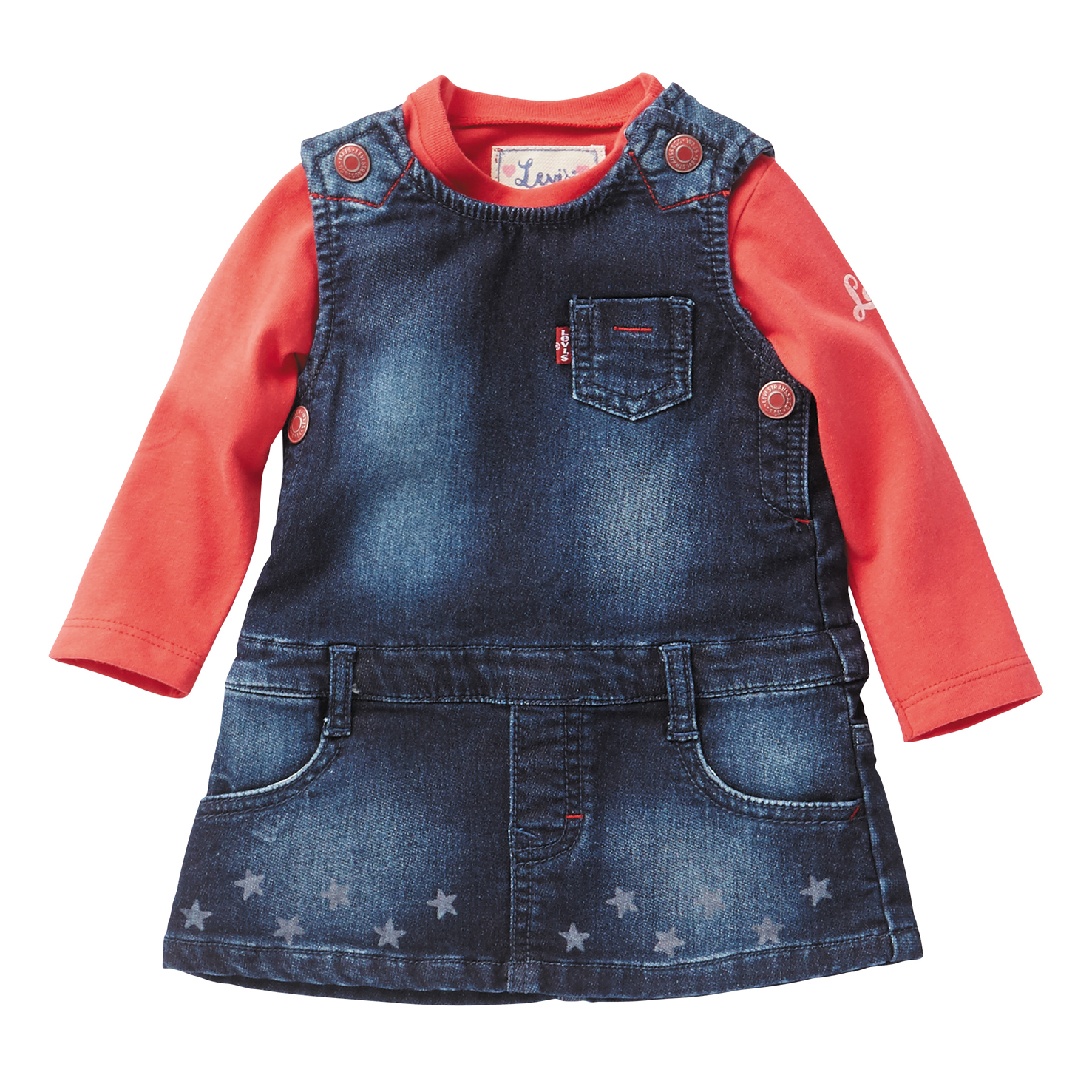 Levis Red top Baby Girls Pinafore Dress 1babyshop
