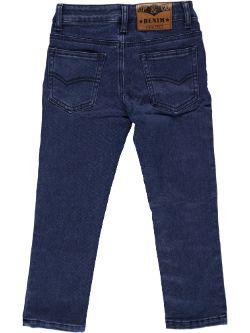 Jean in indigo blue trousers