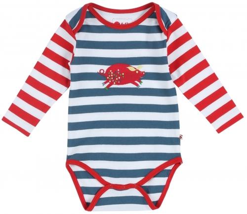 Pig Stripe Baby Bodysuit
