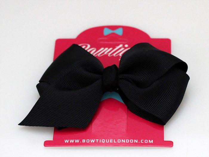 Bowtique London Black Grosgrain Bow hair clip