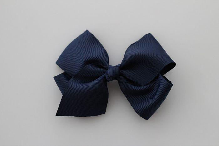 Bowtique London Navy Grosgrain Bow hair clip