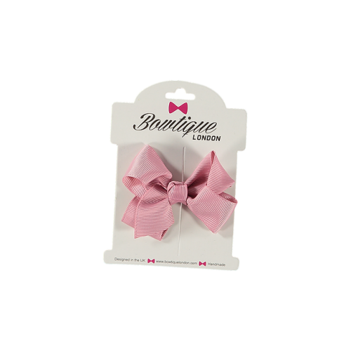 Bowtique London Pink Grosgrain Bow hair clip