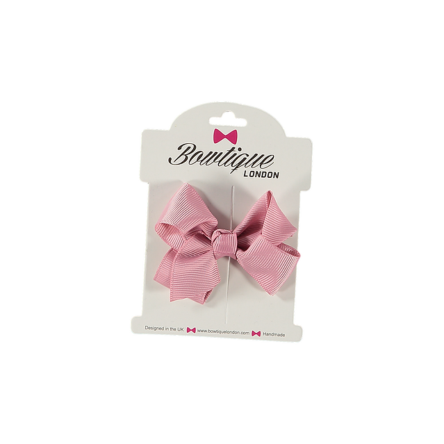 Bowtique London Pink Grosgrain Bow hair clip